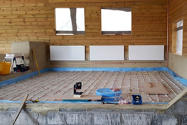 Gas Boiler and Underfloor Heating Installation
